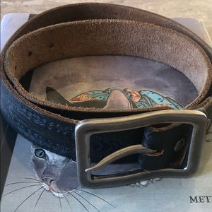 Leather Island Free Wheelin Vintage Leather Belt